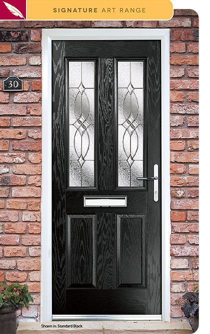 Flair composite door glass