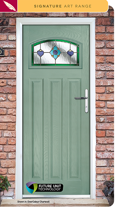 Dorchester Composite Door Glass