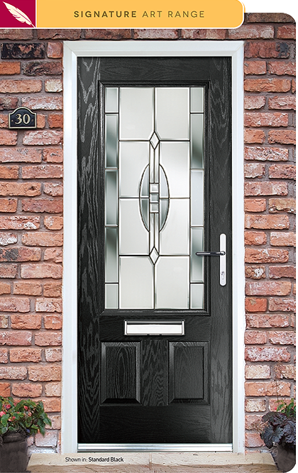 Relfections Composite Door Glass