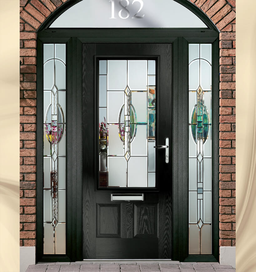 Matrix composite door glass for Door n window designs